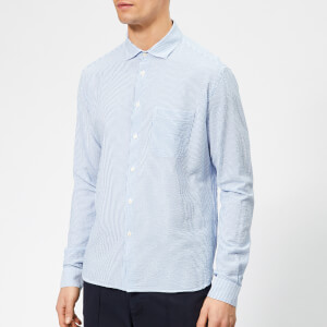 YMC Men's Curtis Seersucker Shirt - Blue
