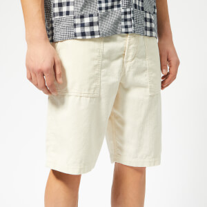 Universal Works Men's Fatigue Cord Shorts - Ecru