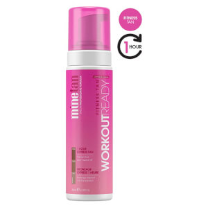Espuma autobronceadora Workout Ready de MineTan 200 ml