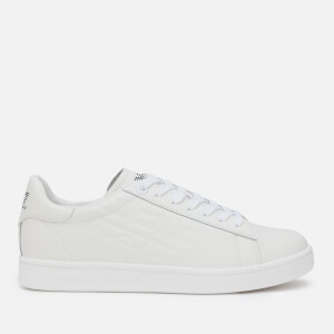 Emporio Armani EA7 Men's Eagle Court Trainers - White/White