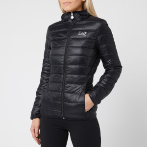Emporio Armani EA7 Women's Train Core Lady Light Down Packable Jacket - Black