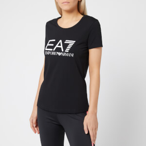 Emporio Armani EA7 Women's Train Logo Series Short Sleeve T-Shirt - Black