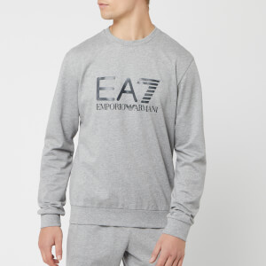 Emporio Armani EA7 Men's Train Logo Series Sweatshirt - Medium Grey Melange