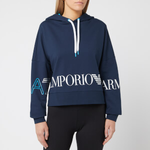 Emporio Armani EA7 Women's Train 7 Colours Hoody - Navy Blue