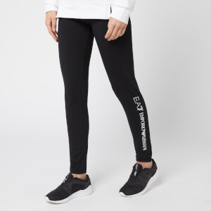 Emporio Armani EA7 Women's Train Logo Series Leggings with Studs - Black