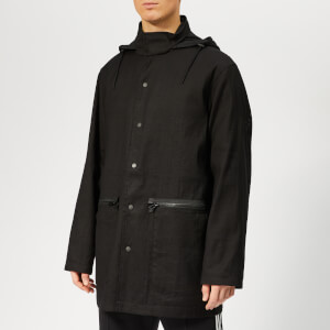 Y-3 Men's Paper Cotton Punch Coach Jacket - Black