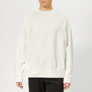 Y-3 Men's Signature Graphic Crew Neck Sweatshirt - Core White