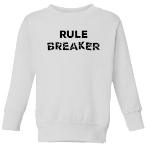Rule Breaker Kids' Sweatshirt - White