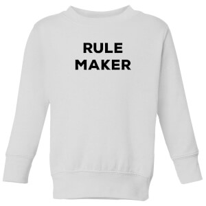 Rule Maker Kids' Sweatshirt - White