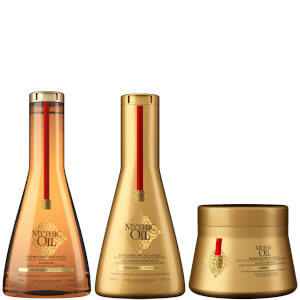 L'Oréal Professionnel Mythic Oil Shampoo, Conditioner and Masque Trio for Thick Hair