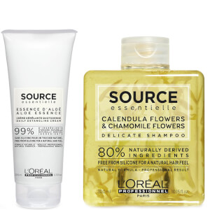 L'Oréal Professionnel Source Essentielle Sensitive Scalp Shampoo and Hair Cream Duo -shampoo ja hiusvoide