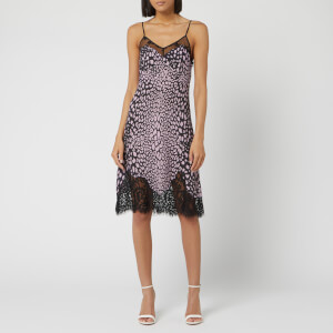 McQ Alexander McQueen Women's Lace Panel Slip Dress - Fucsia