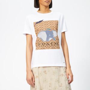 Coach 1941 Women's X Disney Dumbo Signature T-Shirt - Optic White