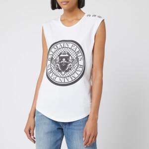 Balmain Women's Coin Tank Top - White/Black