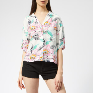Levi's Women's Mahina Shirt - Lineartropical Whisper White