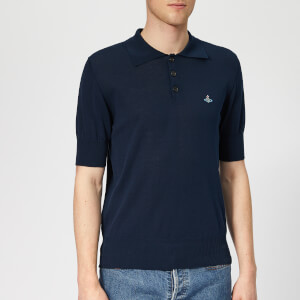 Vivienne Westwood Men's Classic Knit Polo Shirt - Navy