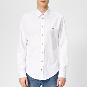 Vivienne Westwood Men's Firm Poplin Classic Extra Slim Long Sleeve Shirt - White
