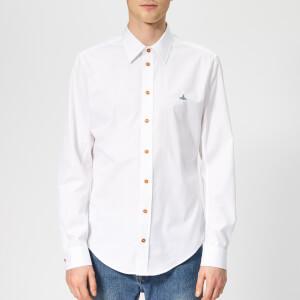 Vivienne Westwood Men's Firm Poplin Classic Extra Slim Long Sleeve Shirt - White