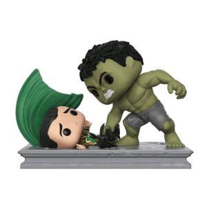 Hulk Smashing Loki EXC Pop! Movie Moment