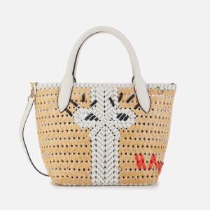 Anya Hindmarch Women's The Neeson Mini Eyes Basket Tote Bag - Natural/Chalk