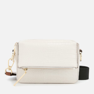Whistles Women's Millie White Croc Bag - White