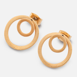 Whistles Women's Textured Double Circle Earrings - Gold