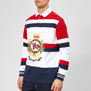 Polo Ralph Lauren Men's Newport Large Crest Rugby Shirt - Rl 2000 Red Multi