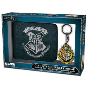 Harry Potter Hogwarts Wallet and Keyring Set