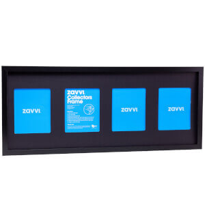 3D Black Collectors Frame with Black Mount 30x76cm