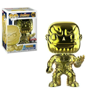 Figurine Pop! Thanos Chrome Jaune EXC - Marvel