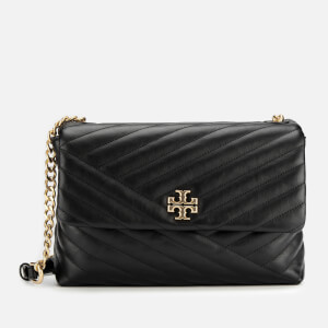 Tory Burch Women's Kira Chevlon Flap Shoulder Bag - Black