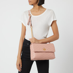 Tory Burch Women's Kira Chevlon Flap Shoulder Bag - Pink Moon: Image 3