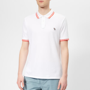 PS Paul Smith Men's Regular Fit Tipped Polo Shirt - White