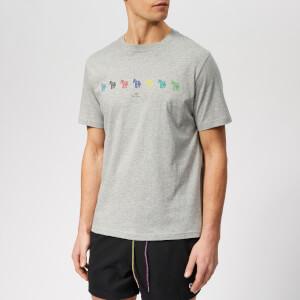 PS Paul Smith Men's Regular Fit Multi Zebra T-Shirt - Melange Grey
