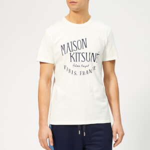 Maison Kitsuné Men's T-Shirt Palais Royal - Latte