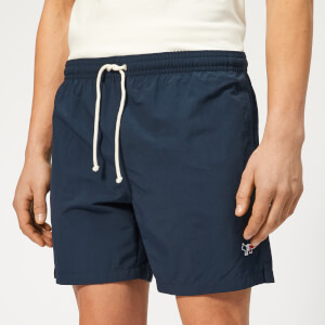 Maison Kitsuné Men's Tricolor Fox Swim Shorts - Navy