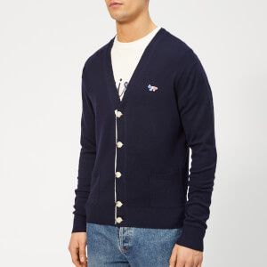 Maison Kitsuné Men's Virgin Wool Classic Cardigan - Navy