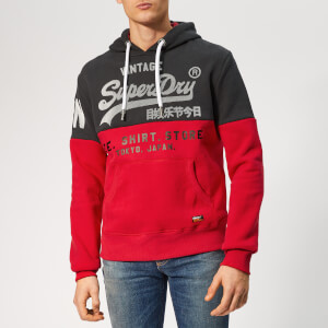 Superdry Men's Store Panel Hoodie - Red