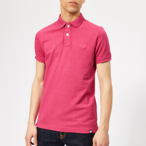Superdry Men's Vintage Destroy Polo Shirt - Pink