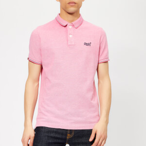 Superdry Men's Classic Poolside Polo Shirt - Coral