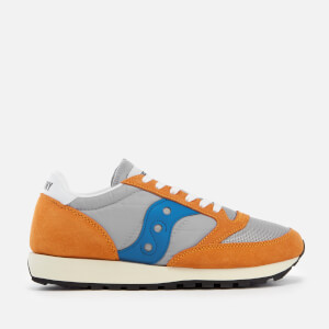 Saucony Men's Jazz Original Vintage Trainers - Orange/Grey/Blue