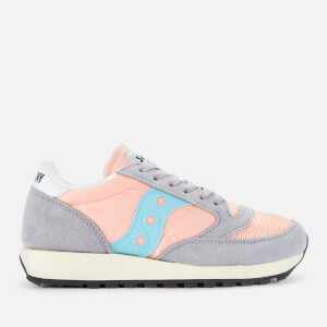Saucony Women's Jazz Original Vintage Trainers - Peach/Grey/Blue
