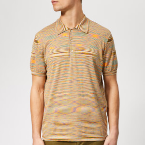 Missoni Men's Knitted Polo Shirt - Green