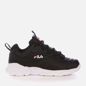 FILA Women's FILA Ray Trainers - Black/FILA Red