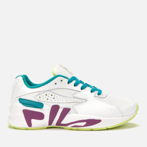 FILA Men's Mindblower Trainers - White/Grape Juice/Sharp Green