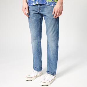 Edwin Men's Ed-80 Slim Tapered Kingston Blue Denim Jeans - Rauha Wash