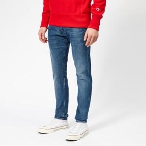 Edwin Men's ED-85 Slim Tapered Drop Crotch Braxton Blue Denim Jeans - Rinsed