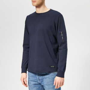 Edwin Men's Mili-Terry Long Sleeve T-Shirt - Navy