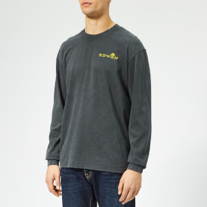 Edwin Men's Explosion Logo Long Sleeve T-Shirt - Ebony