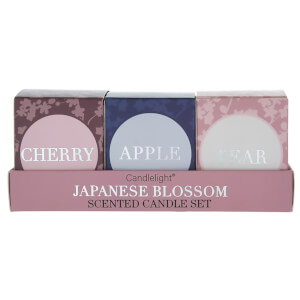 Candlelight Set of 3 'Japan' Mini Votives in Gift Box